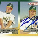 2005 Topps Total Dan Johnson/Omar Quintanilla Autograph
