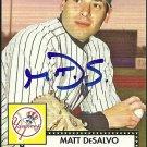 2007 Topps '52 Matt DeSalvo Autograph