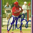 2005 Topps Series 2 Mike Bourn Autograph