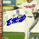 2010 Multi Ad Sports Valley Cats Kike Hernandez Autograph