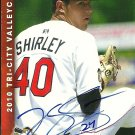 2010 Multi Ad Sports Valley Cats Tom Shirley Autograph