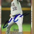 2007 Upper Deck First Edition Chad Cordero Autograph