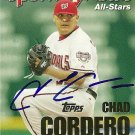 2005 Topps Update Sporting News All-Star Chad Cordero Autograph