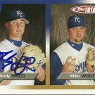 2005 Topps Total Andy Sisco/Mike Wood Autograph
