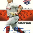 2008 Tristar Projections Justin Masterson Autograph
