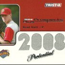 2008 Tristar Prospects Plus Potential Brad Holt Jersey Card
