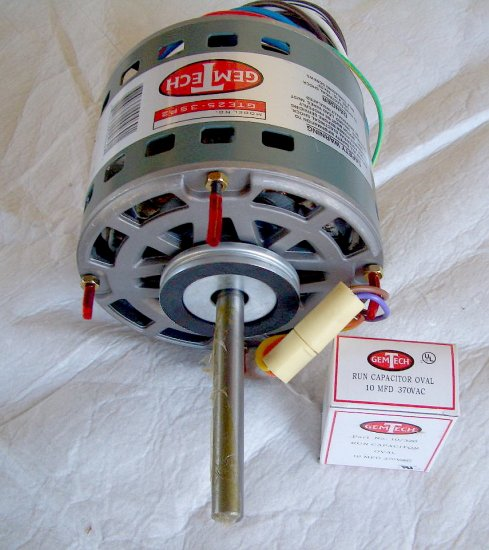 1 4 hp furnace blower motor 120v for gas furnaces for Central heat and air blower motor