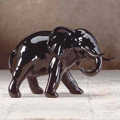 Black Lacquered Elephant