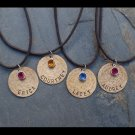 Friendship Necklaces---- Set of 4 ------Handstamped and Personalized Necklaces