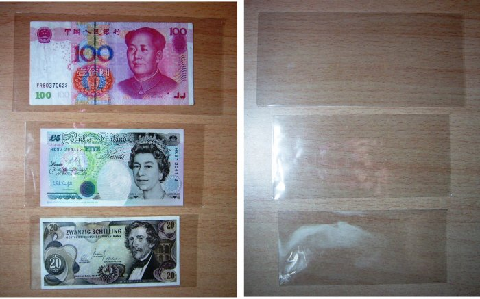 Banknotes holder currency protector 15pcs