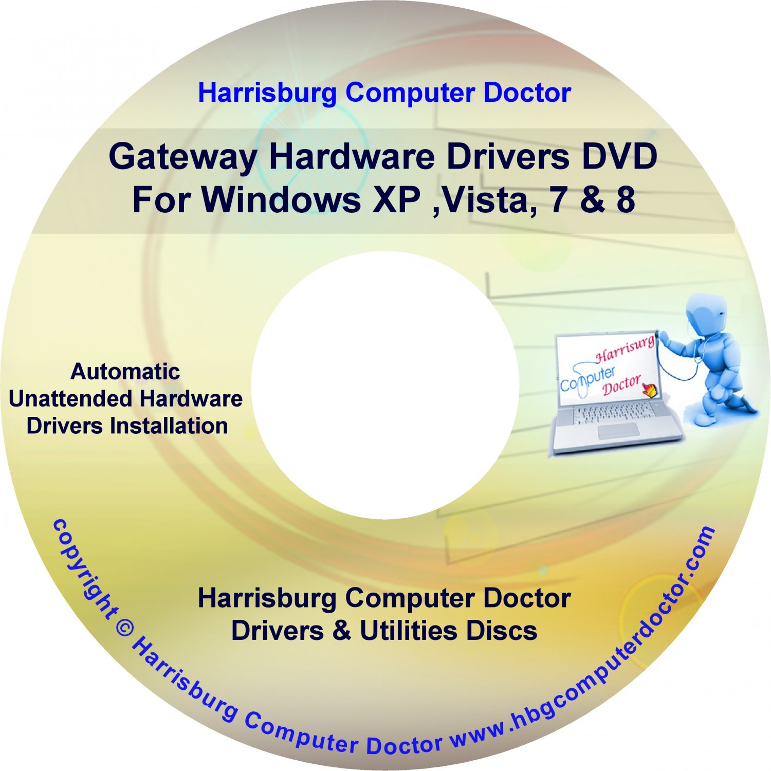Gateway Solo 3350 Drivers DVD For Windows, XP, Vista, 7 & 8