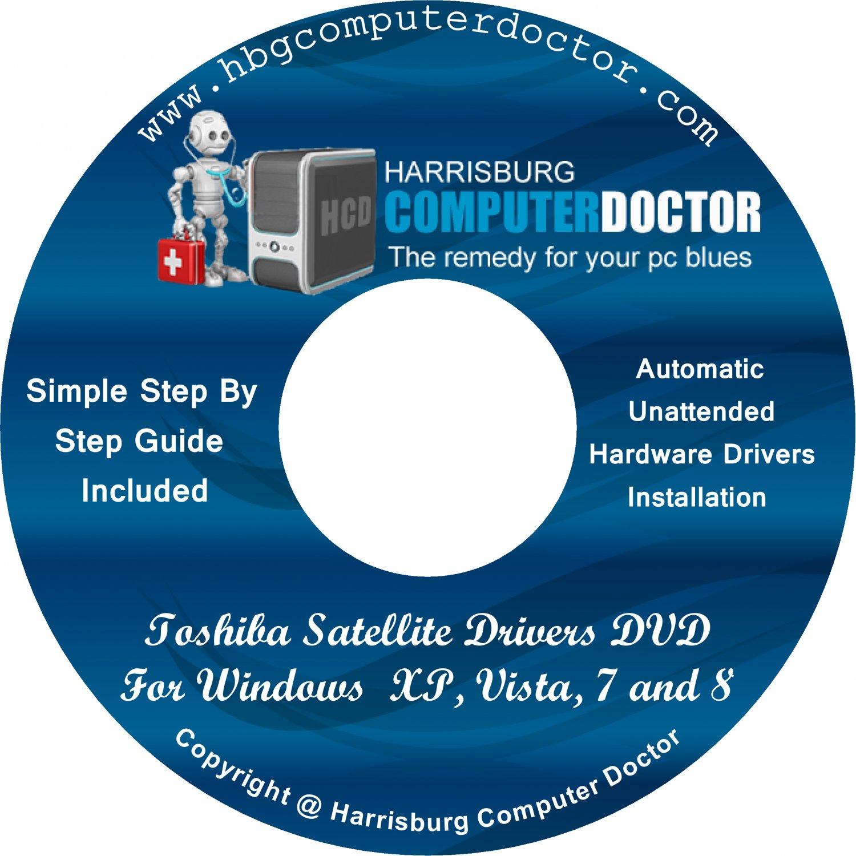 Toshiba Satellite 1405-S172 Drivers DVD For Windows, XP, Vista, 7 & 8