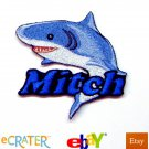 Custom Personalized Iron-on Patch - Shark