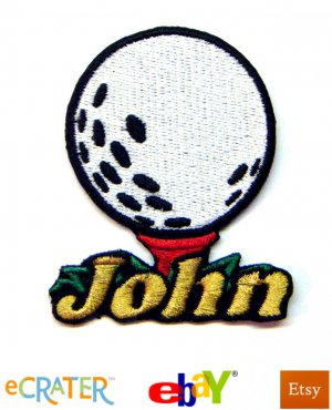 Custom Personalized Iron-on Patch - Golf Ball