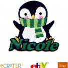 Custom Personalized Iron-on Patch - Penguin