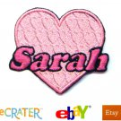 Custom Personalized Iron-on Patch - Pink Heart