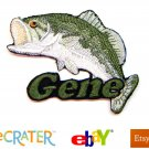 Custom Personalized Iron-on Patch - Bass Fishing