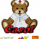 Custom Personalized Iron-on Patch - Teddy Bear Nurse