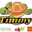 Custom Personalized Iron-on Patch - Sea Turtle