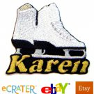 Custom Personalized Iron-on Patch - Ice Skates