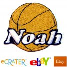 Iron-on Personalized Basketball Patch