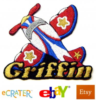 Custom Personalized Iron-on Patch - Airplane