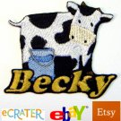 Custom Personalized Iron-on Patch - Cow