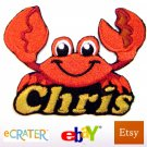 Custom Personalized Iron-on Patch - Crab