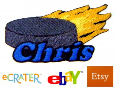 Custom Personalized Iron-on Patch - Hockey