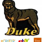Custom Personalized Iron-on Patch - Rottweiler