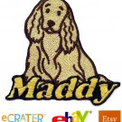Custom Personalized Iron-on Patch - Cocker Spaniel