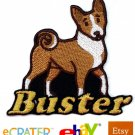 Custom Personalized Iron-on Patch - Basenji