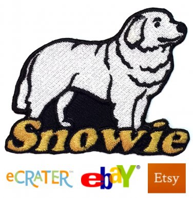 Custom Personalized Iron-on Patch - Great Pyrenees