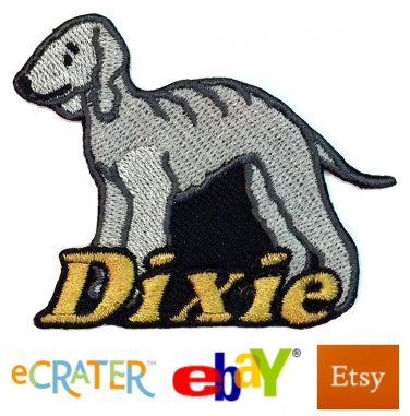 Custom Personalized Iron-on Patch - Bedlington Terrier