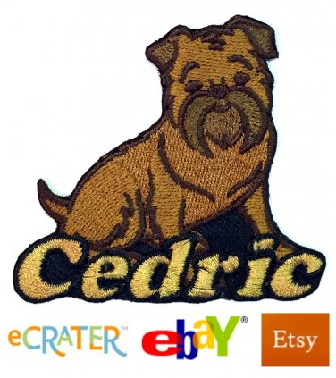 Custom Personalized Iron-on Patch - Brussels Griffon