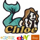 Custom Personalized Iron-on Patch - Mermaid