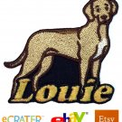 Custom Personalized Iron-on Patch - Rhodesian Ridgeback