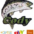 Custom Personalized Iron-on Patch - Rainbow Trout
