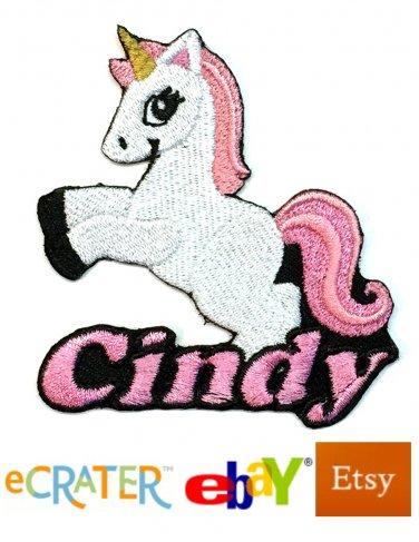 Custom Personalized Iron-on Patch - Unicorn