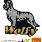 Custom Personalized Iron-on Patch - Irish Wolfhound