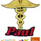 Custom Personalized Iron-on Patch - Caduceus Medical