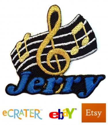 Custom Personalized Iron-on Patch - Music