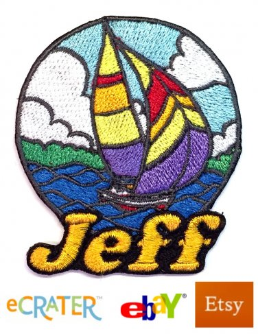 Custom Personalized Iron-on Patch - Sailing