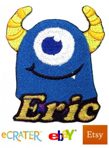 Custom Personalized Iron-on Patch - Monster