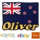 Custom Personalized Iron-on Patch - New Zealand Flag