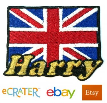 Custom Personalized Iron-on Patch - United Kingdom Flag