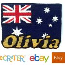Custom Personalized Iron-on Patch - Australia Flag