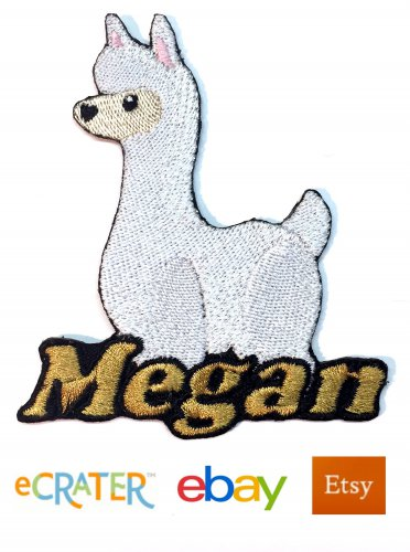 Custom Personalized Iron-on Patch - Llama