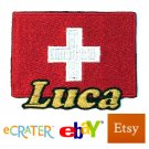 Custom Personalized Iron-on Patch - Switzerland Flag
