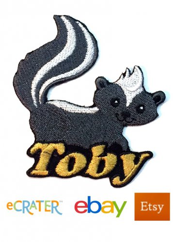 Custom Personalized Iron-on Patch - Skunk